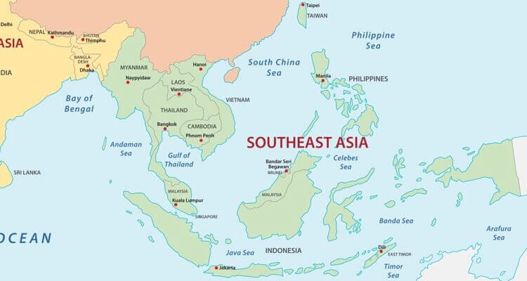 Stumme Karte Asien Lander Hauptstadte.Asien Lander Karte Regionen Hauptstadte In Der Ubersicht