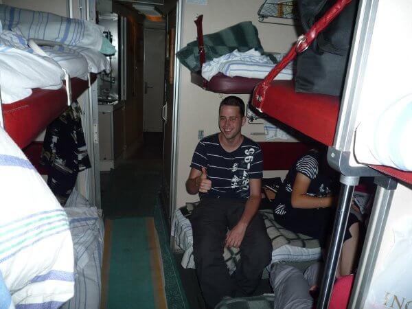 In der Transsibirischen Eisenbahn