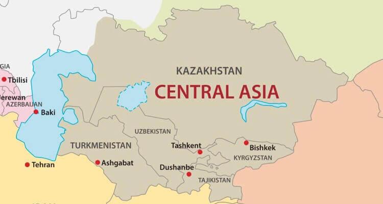 Landkarte Asien.Asien Lander Karte Regionen Hauptstadte In Der Ubersicht